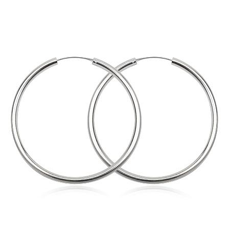 smykker-online.dk Sølv øreringe - Ø14mm - pr sæt