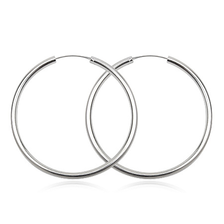 Sølv øreringe - Ø20mm - pr sæt
