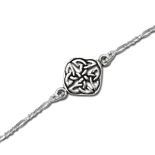 Image of   Armbånd med Keltisk knude mønster - 20,5cm